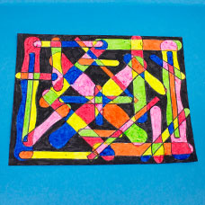 Abstract Art With Craft Sticks Craft Project Ideas