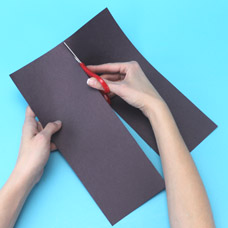 Construction paper accordion book