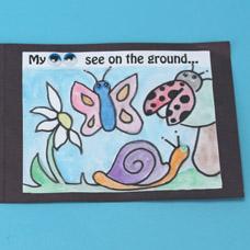 Wiggly eye Accordion Book