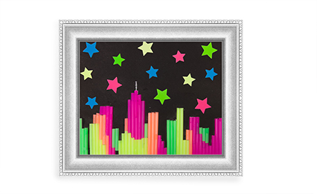 Straw skyline craft project ideas for Beauty project ideas
