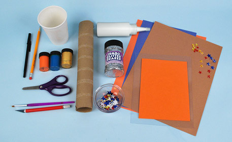 Supplies to create a telescope craft