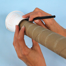 Use a recycled cardboard tube to create a telescope craft