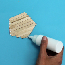 kids craft with popsicle sticks