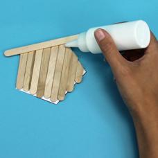 kids craft with craft sticks