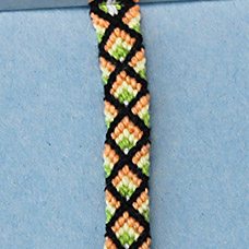 Friendship Bracelet Diamond Pattern