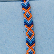 Friendship Bracelet Fish Pattern