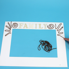 how to make a picture frame with kids