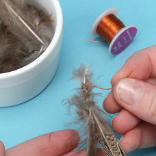 Make a feather extension barrette
