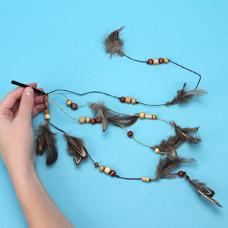 Make your own hair feather extension