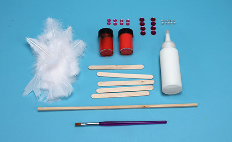make a feather wand