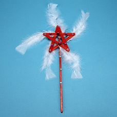 Make a princess feather wand