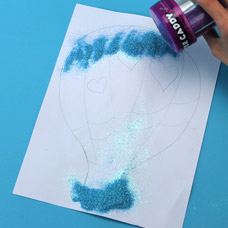 how to make a glitter painting kids craft