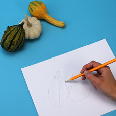 Simple still-life drawing for children