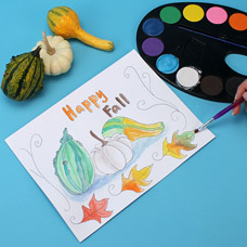 Painting a simple still life for children