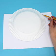 Paper plate art project for kids