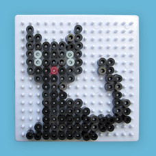 Black Cat craft using Melty Beads