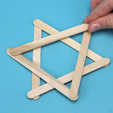 Make a Star of David Sun Catcher