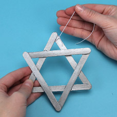 Hanukkah Tissue Paper Suncatchers Craft Project Ideas