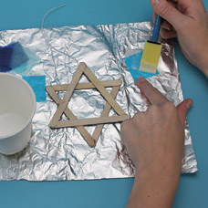 Star of David Sun Catcher Project for Kids