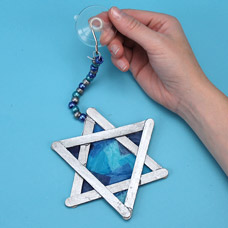 Star of David Sun Catcher Craft