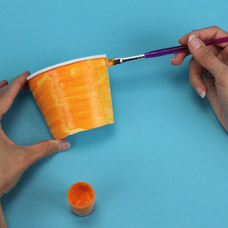 make a 3d impressionist painting with children