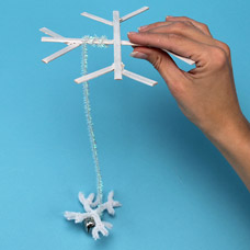 Winter Snowflake mobile craft for kids