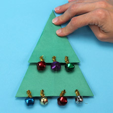 How to make an Origami Christmas Tree Ornament