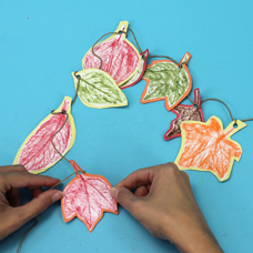 leaf rubbing craft for kids