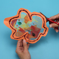 Make a sun catcher with kids