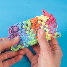 Weaving Loom Pencil Holder Craft Project Ideas