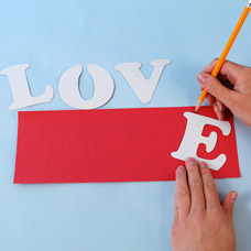 How to make a Valentine's Display