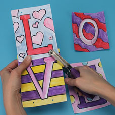 Valentine's Day arts and crafts activity for kids