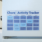 Magnetic chore chart complete with a free template to download