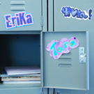 Magnetic name tags for the classroom or a locker craft