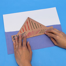 Origami Boat Art Project for Preschoolers