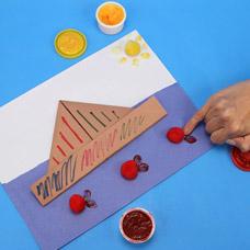 Origami Boat Art Project