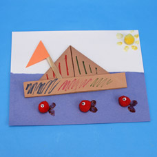 Preschool Project: Origami Boat for Columbus Day