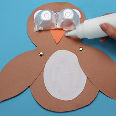 owl puppet children's craft project