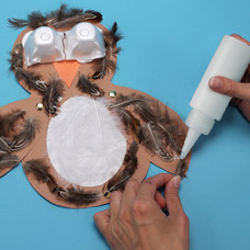 owl puppet craft with recycled materials