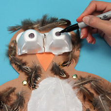 owl puppet craft for young children