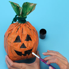 Kids Craft Pumpkin Decoration