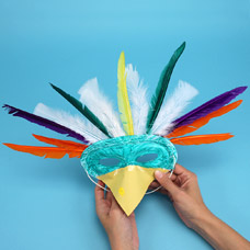 kids arts and crafts mask project
