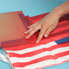 Make an American Flag Tote with Simply Spray