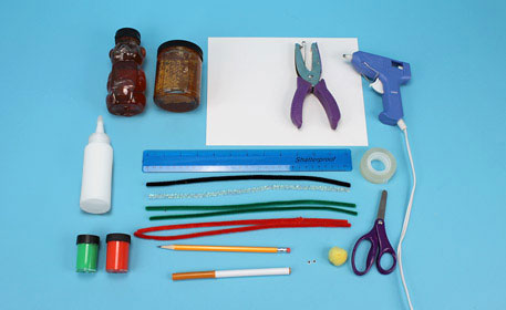 Supplies for a Rosh Hashanah crafted gift