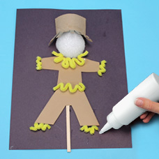 Children's craft activity, scarecrow