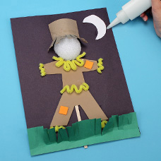 kids arts and crafts scarecrow