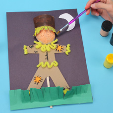 children's craft scarecrow