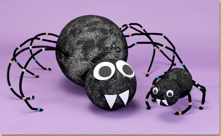how to make a spider with fuzzy sticks