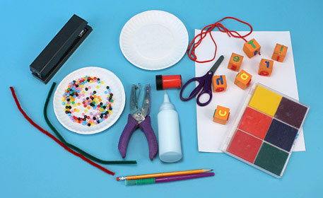 Supplies to create a craft for your teacher