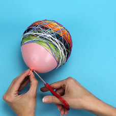 3d thread sculpture kids craft activity